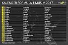 Jadwal resmi kalender Formula 1 2017