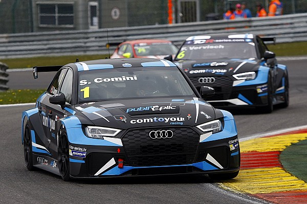 Comini and Vervisch made an Audi 1-2 in Qualifying