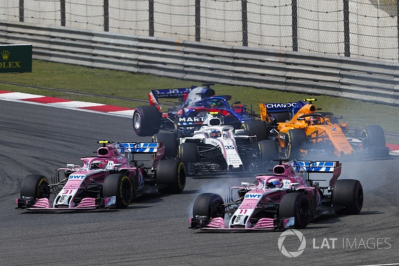 Force India drivers told to hustle rivals, not each other