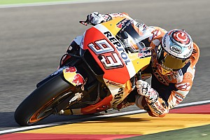 MotoGP Practice report Aragon MotoGP: Marquez tops shortened warm-up