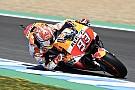 MotoGP Jerez: Isınma turlarında kaza yapan Marquez lider