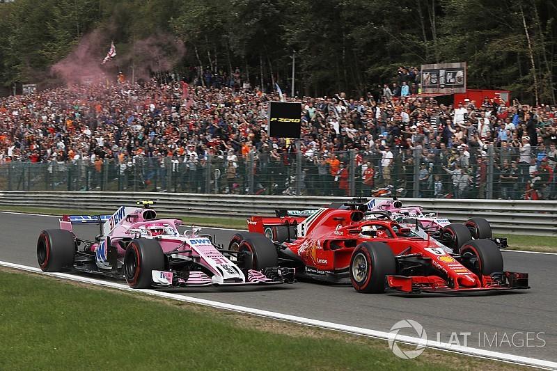 Положение в чемпионате после Гран При Бельгии