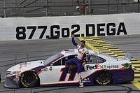 NASCAR: Vitória de Hamlin vem após final confuso em prova caótica de Talladega