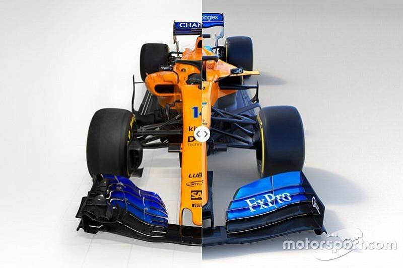 Comparación del McLaren MCL34 2019 vs. 2018