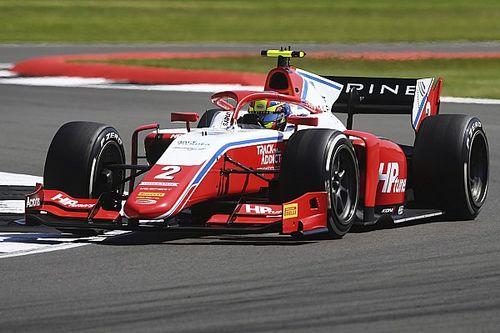 Silverstone F2: Piastri consigue la pole antes de la bandera roja