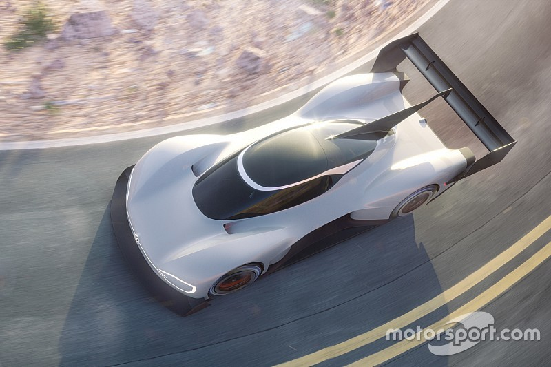 Volkswagen releases first images of electric Pikes Peak car