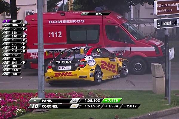 İtfaiye aracı ile çarpışan Coronel, Portekiz WTCC yarışına katılamayacak