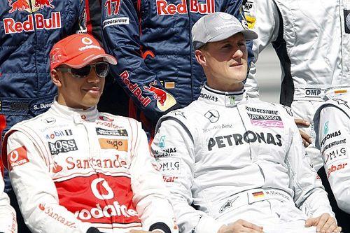 Hamilton a 2000 Km da Schumacher, poi sarà leggenda
