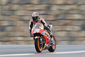 Pedrosa, el más rápido el primer día en Aragón; Rossi, resiste