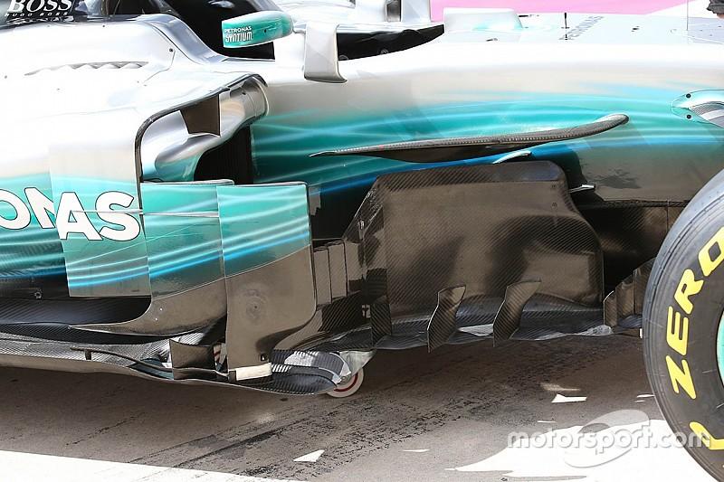 Mercedes: ora c'è una... torre sul marciapiede del bargeboard