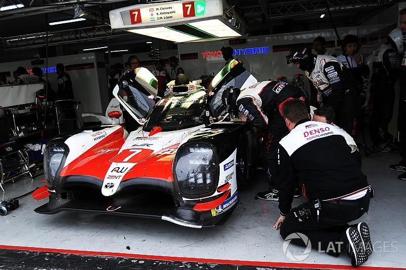 Toyota a testé son proto LMP1 sur trois roues