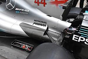 Formula 1 Analisi Mercedes: il cofano motore ora arriva fino al pilone dell'ala posteriore