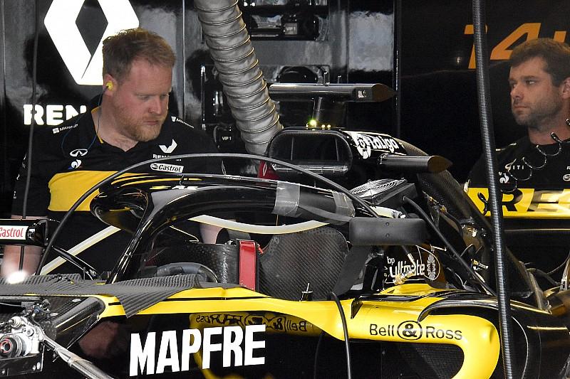 Renault: prove di visibilità con lo specchietto retrovisore attaccato all'Halo