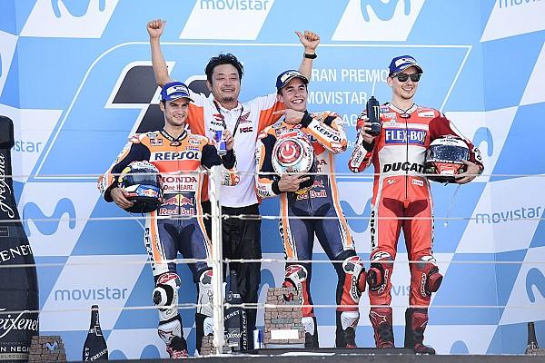 MotoGP Marquez ad Aragon ha portato sul podio
