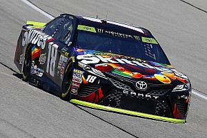 NASCAR Cup Qualifying report Kyle Busch takes Chicagoland pole in JGR front row lockout