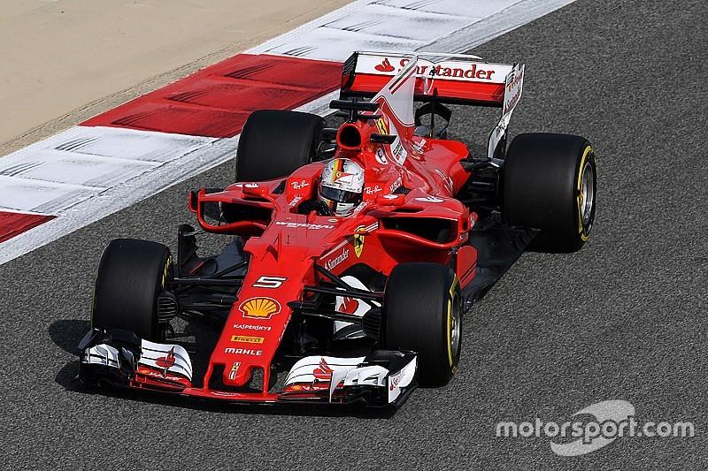 GP Bahrain: Vettel tercepat FP1, Raikkonen masalah mesin