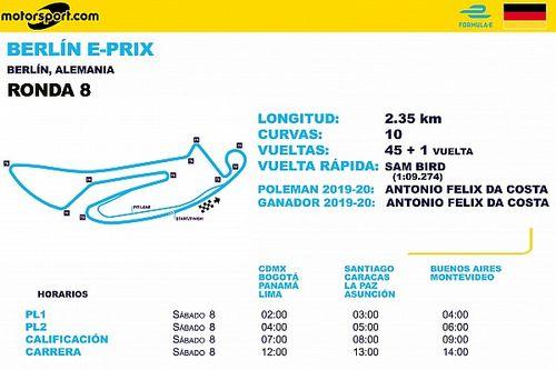 Horarios para ePrix de Berlín Ronda 8 y 9