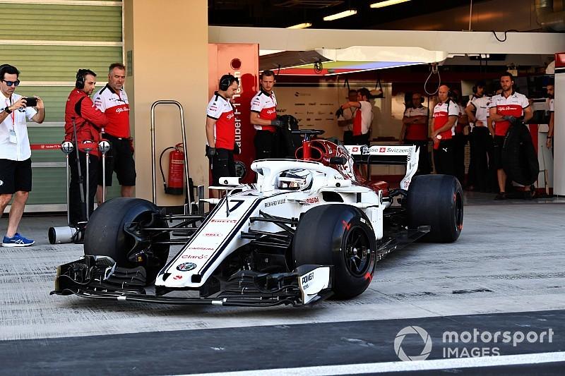 Räikkönen a fait ses premiers tours chez Sauber