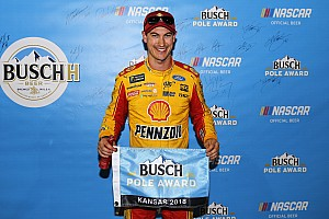 Logano beats Harvick and Almirola for Kansas pole