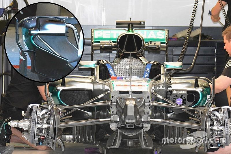 Mercedes: le bocche dei radiatori sono più piccole