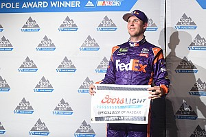 NASCAR Cup Qualifying report Hamlin snags pole from Truex in dramatic qualifying session
