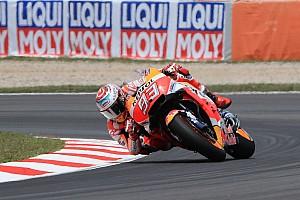 MotoGP Réactions Márquez pas inquiet après sa chute de vendredi