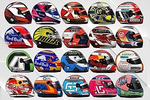 Tous les casques des pilotes F1 en 2019