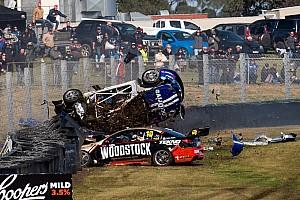 Supercars Race report Sandown 500: Massive crash stops first qualifying race