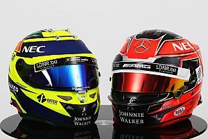 """Forma-1 BRÉKING """"Visszatér"""" Schumacher sisakja: Ocon piros fejfedője"""