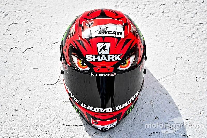 """Ducati: Lorenzo presenta """"Diablo"""", il nuovo casco per il GP d'Austria"""