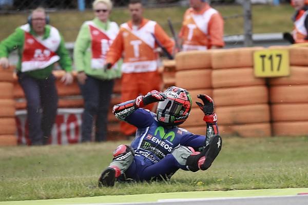 "MotoGP Viñales se diz confuso com queda em Assen: ""Nunca caí tanto"