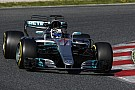 Barcelona F1 test: Mercedes heads Ferrari, Stroll shunts