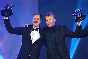 Hamilton terima piala, Raikkonen curi perhatian di FIA Gala