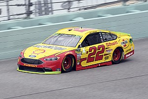 Joey Logano leads Saturday's first Cup practice at Homestead
