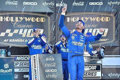 Kansas NASCAR: Larson takes win on emotional day for Hendrick