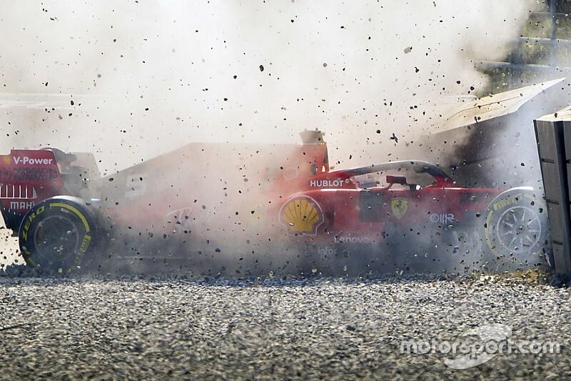 ベッテルのクラッシュにより、フェラーリのテスト計画に変更が発生
