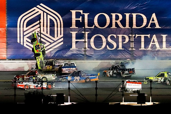 NASCAR Truck Grala wins first Truck race after violent last-lap wreck
