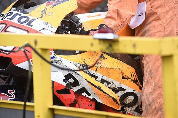 MotoGP VIDEO: Kecelakaan Marquez di FP2 Motegi