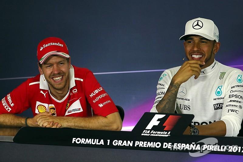 """Hamilton és Vettel viccelődött: """"Helyet hagytam Neked - én is!"""""""