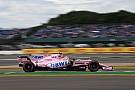 Pérez tuvo dificultades en el primer día en Silverstone