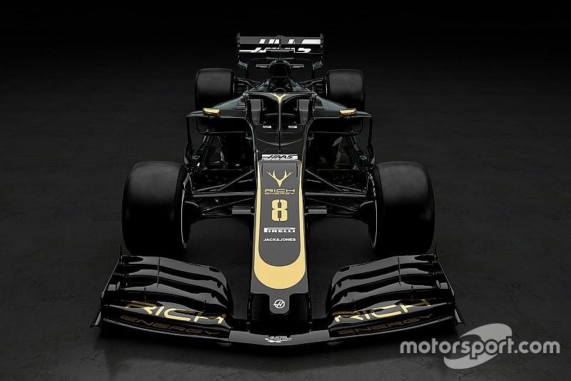 ハース、2019年マシンのカラーリングを発表。ブラック&ゴールドの美しい姿に