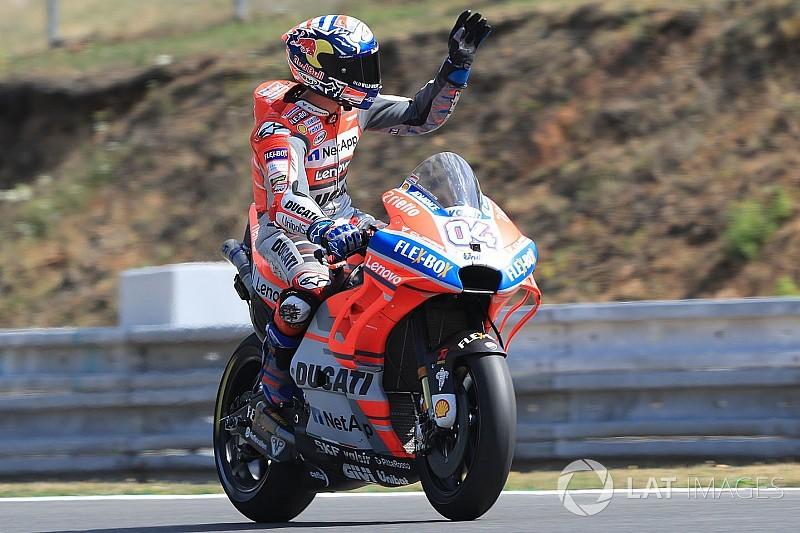 Dovizioso bevestigt favorietenrol in Brno tijdens warm-up