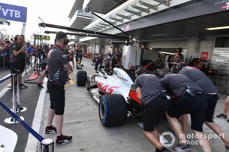 Haas F1 team loses tyres in overnight garage fire