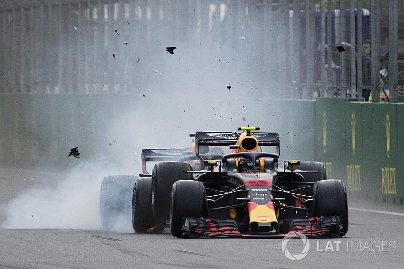 Ricciardo ve Verstappen, kaza nedeniyle kınama aldılar
