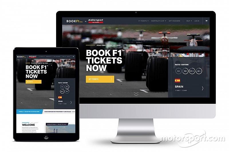 Motorsport Network entra en el mercado de la venta de entradas con BookF1.com
