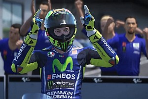 Virtual Special feature Aksi Valentino Rossi di video game MotoGP 17