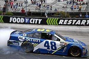 NASCAR Cup Rennbericht NASCAR in Bristol: Jimmie Johnson gewinnt Montagsrennen