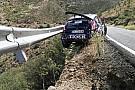 Видео: рельс безопасности спас экипаж ERC от падения в обрыв