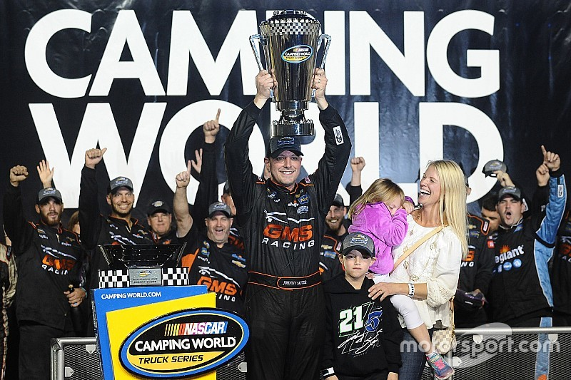 Johnny Sauter is crowned Truck Series champion as Byron wins finale