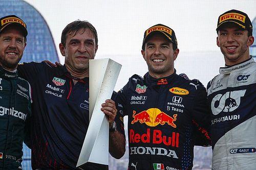Perez alig ünnepelt a győzelme után, ráadásul a trófeát sem tarthatta meg